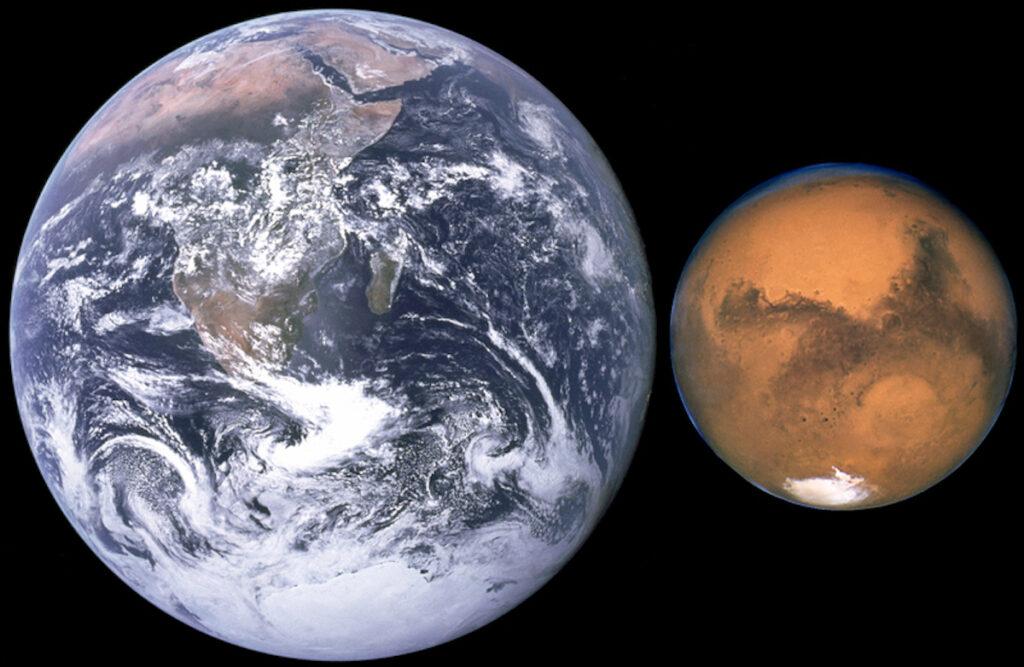 Hvor er det vand på Mars?